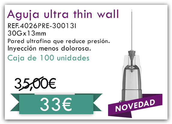aguja thin wall