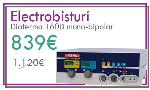 Electrobisturí Diatermo MB 160D mono-bipolar