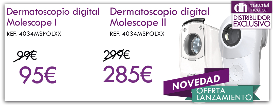 Dermatoscopio digital profesional MoleScope