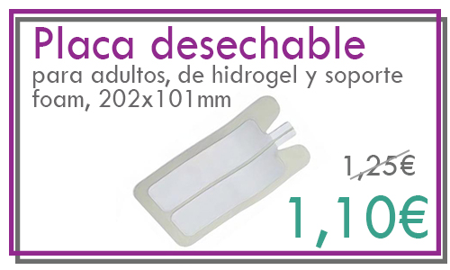 Placa desechable electrobisturí