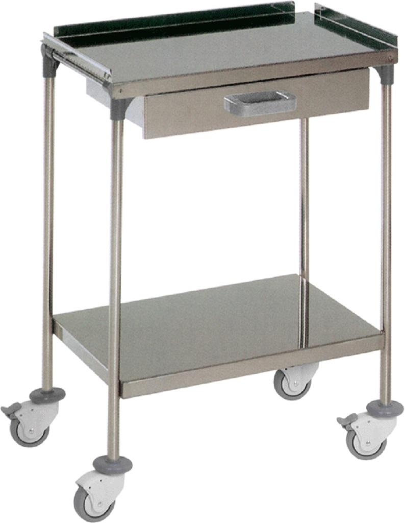 Mesa auxiliar con dos estantes y un caj n mesas auxiliares tienda online de material m dico - Estante con cajon ...