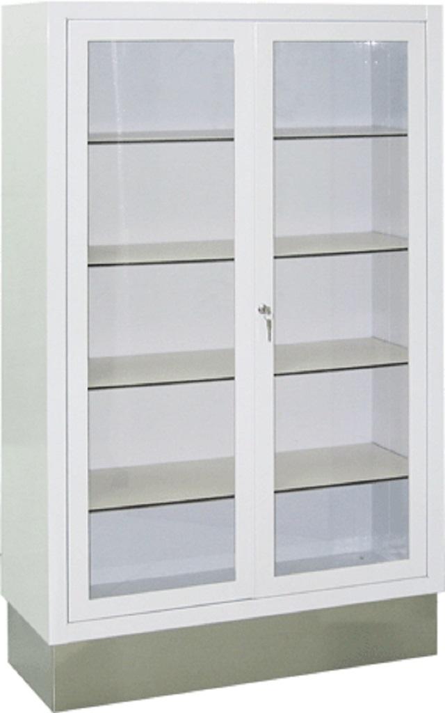 Vitrina m dica 2 puertas 90 cm epoxi blanco vitrinas - Vitrinas empotradas en pared ...