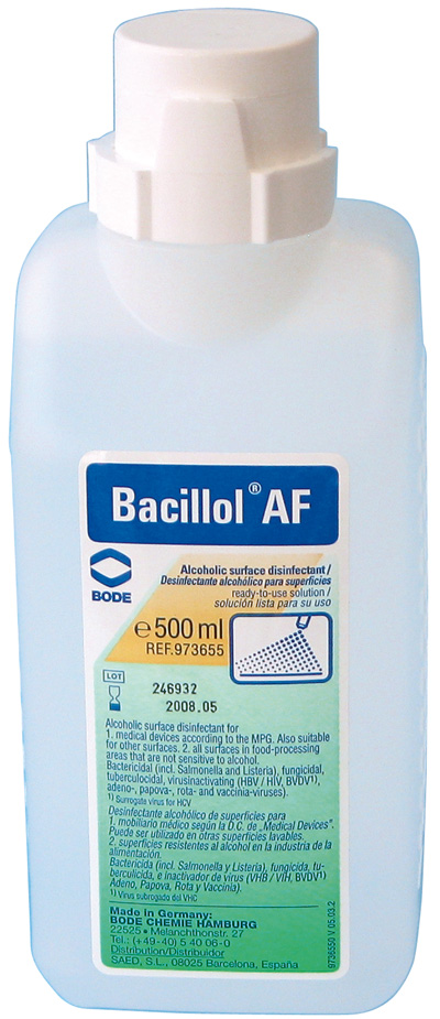 Desinfectante para superficies alcohólico Bacillol AF, 500 ml