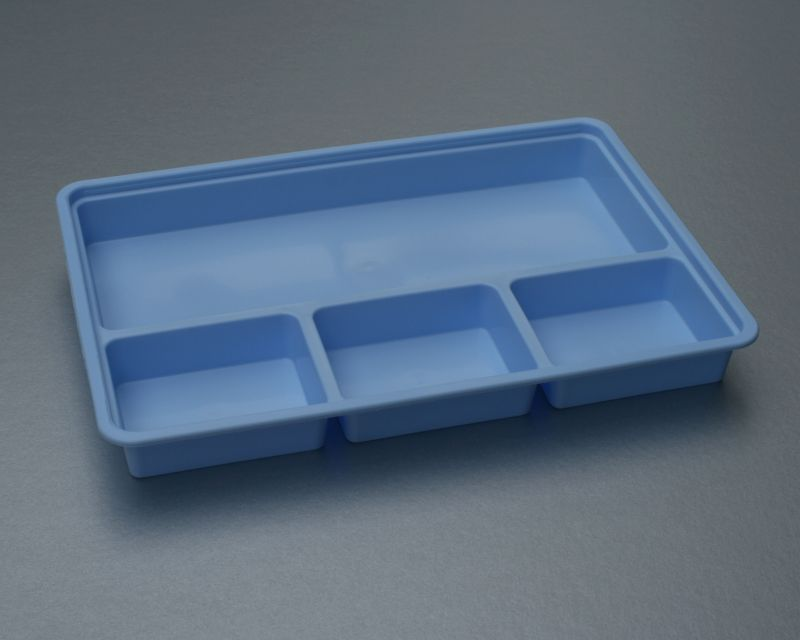 Batea rectangular desechable 4 compartimentos 220 x 150 x for Material sanitario online