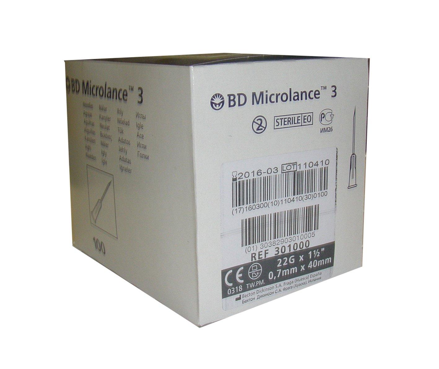 Aguja hipod rmica bd microlance 0 7x40 22g 1 1 2 caja de for Material sanitario online