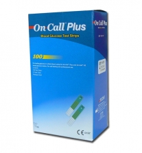 Tiras reactivas glucosa On Call Plus. Caja de 100 tiras