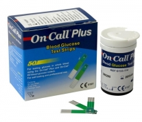 Tiras reactivas glucosa On Call Plus. Caja de 50 tiras