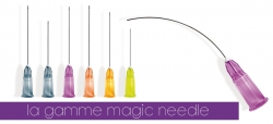 Microcánula flexible Magic Needle 22G x 57 mm. Caja de 20 unidades